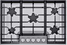 30-Inch Masterpiece® Pedestal Star® Burner Gas Cooktop, ExtraLow® Select SGSXP305TS