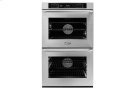"""30"""" Heritage Double Wall Oven, Silver Stainless Steel with Epicure Style Handle (Chrome End Caps) Product Image"""