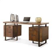 Terra Vista Double Pedestal Desk Casual Walnut finish