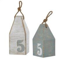 Buruni Bouys  Set of Two Decorative Accessories  Coastal Traditional