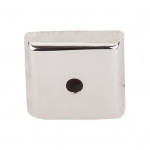Aspen II Square Backplate 7/8 Inch - Polished Nickel