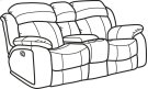 Como Fabric Gliding Reclining Loveseat with Console Product Image