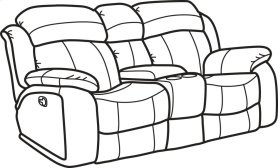 Como Fabric Gliding Reclining Loveseat with Console