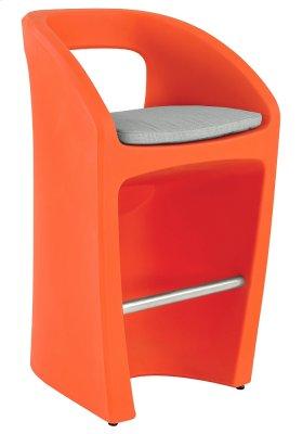 Radius Bar Stool with Seat Pad