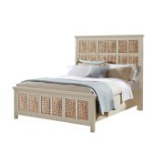 Pacifica Creme Panel Headboard Bed Product Image