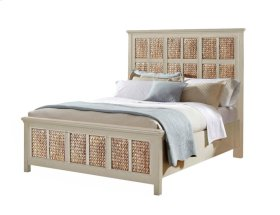Pacifica Creme Panel Headboard Bed