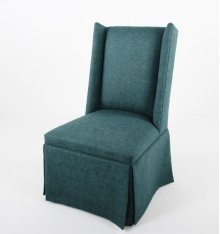 Skirted wing chair