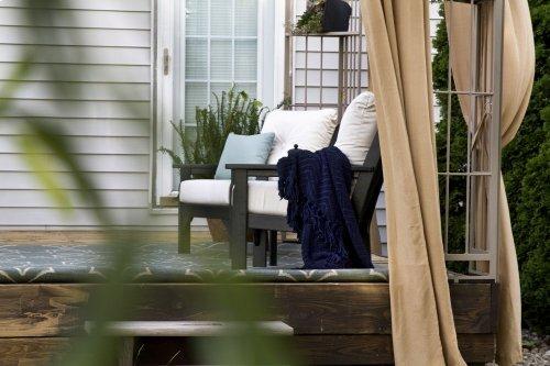 Teak & Antique Beige Vineyard Deep Seating Chair