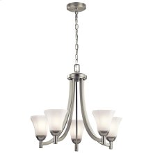 Serina Collection Serina 5 Light Chandelier in Brushed Nickel