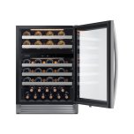 51-Bottle Capacity Wine Cooler In Stainless Steel