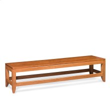 Justine Dining Bench, Wood Seat