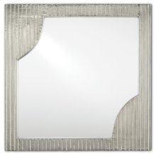 Morneau Silver Square Mirror - 24h x 24w x 1.75d