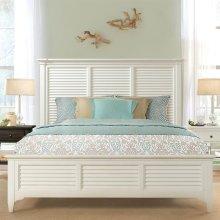 Myra - King Louver Bed - Paperwhite Finish
