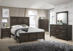 1044 Preston Greige King Bed with Dresser & Mirror
