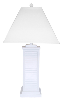 PR151-WH Shutter Table Lamp