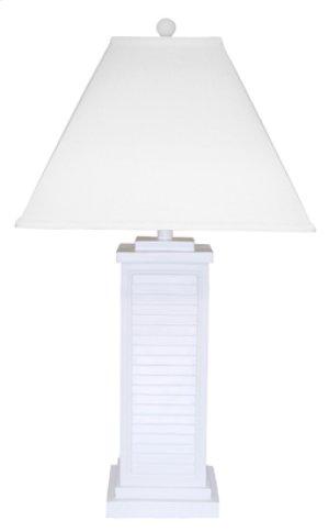 PR151-WH Shutter Table Lamp