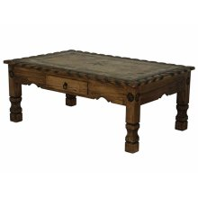 Coffee table with rope, stone and star (Medio)