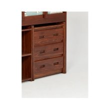 Heartland 3 Drawer Chest with options: Chocolate