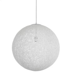 """Spool 24"""" Chandelier in White Product Image"""
