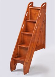 Bunk Bed Stairs in Cherry Finish Product Image