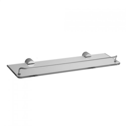 Satin Chrome - Contempo II Glass Shelf with Wire Rail