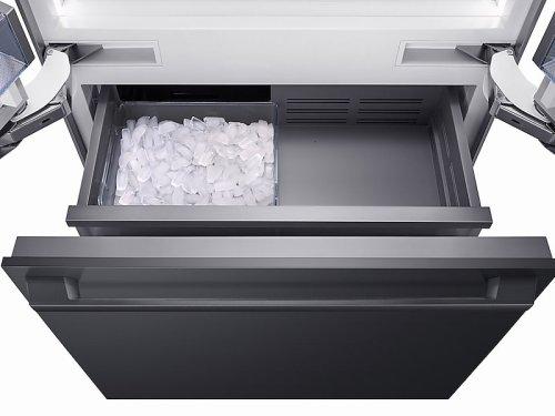 """Fingerprint Resistant Black Matte Stainless Accessory Kit for 36"""" Built-in Refrigerator"""
