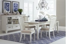 Rockport 5-piece Rectangle Dining Set With Side Chairs - White With Driftwood Top