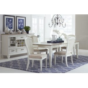 Hillsdale FurnitureRockport 5-piece Rectangle Dining Set With Side Chairs - White With Driftwood Top