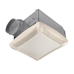 50 CFM Fan/Light with Transparent Polymeric Lens and Resin Grille; 100-watt Incandescent Lighting Product Image