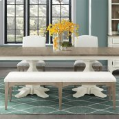 Myra - Upholstered Dining Bench - Natural Finish