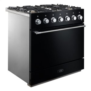 "AGAGloss Black 36"" AGA Mercury Dual Fuel Range"