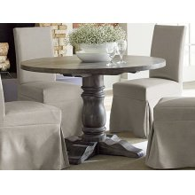 Round Dining Table - Dove Gray Finish