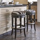 Zebrano Swivel Counter Stool - Backless Product Image