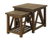 Nesting Tables 2 Pcs-burnished Oak Finish-set Up