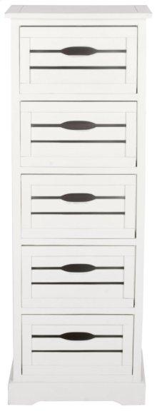 Sarina 5 Drawer Cabinet - Antique Cream