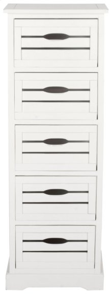 Sarina 5 Drawer Cabinet - Antique Cream