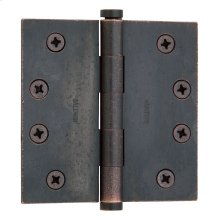 Distressed Oil-Rubbed Bronze Square Corner Hinge