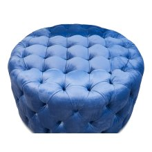Round Tufted Table Ottoman