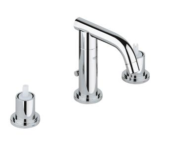 "Chrome Three-hole basin mixer 1/2"" S-Size"