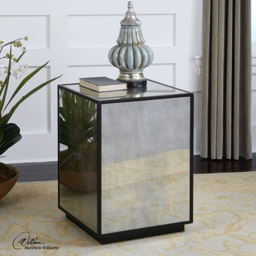 Matty Mirrored Side Table
