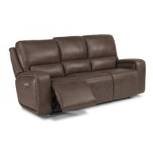 Blade Leather Power Reclining Sofa with Power Headrests