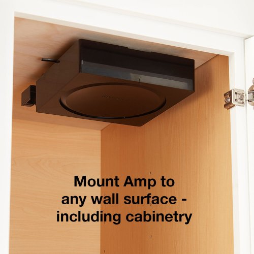 Black- Mount your Sonos Amp to any surface, including cabinetry.