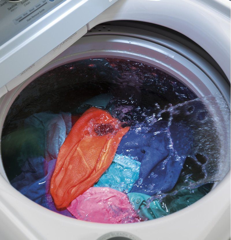 GE® 4 6 cu  ft  Capacity Washer with Stainless Steel Basket