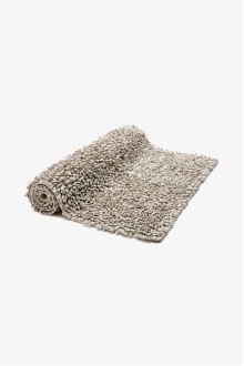 "Fray Linen and Cotton Looped Bath Rug 23"" x 23"" STYLE: FYRU03"