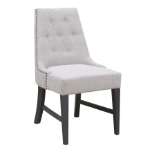 Side Chair-upholstered Seat & Back-tan#k2080-6 Set Up