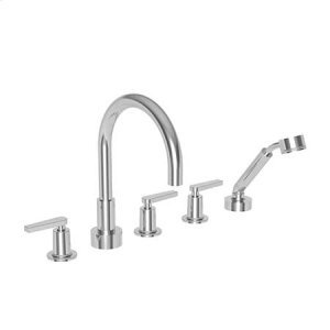 Satin Gold - PVD Roman Tub Faucet with Hand Shower