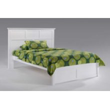Tarragon Bed in White Finish