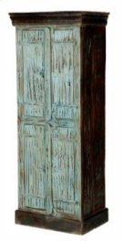 Turquoise Painted Bathroom Cabinet Product Image