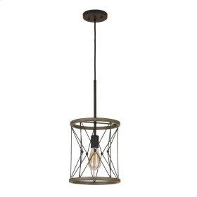 60W Modica Metal Pendant (Edison Bulb Not Included)