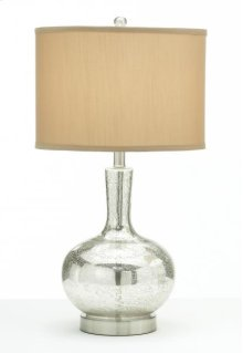 Round Glass Base Lamp with Copper Shade